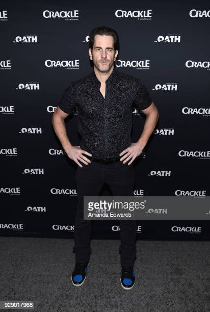 Actor Aaron Abrams arrives at Crackle's 'The Oath' premiere at Sony Pictures Studios on March 7 2018 in Culver City California