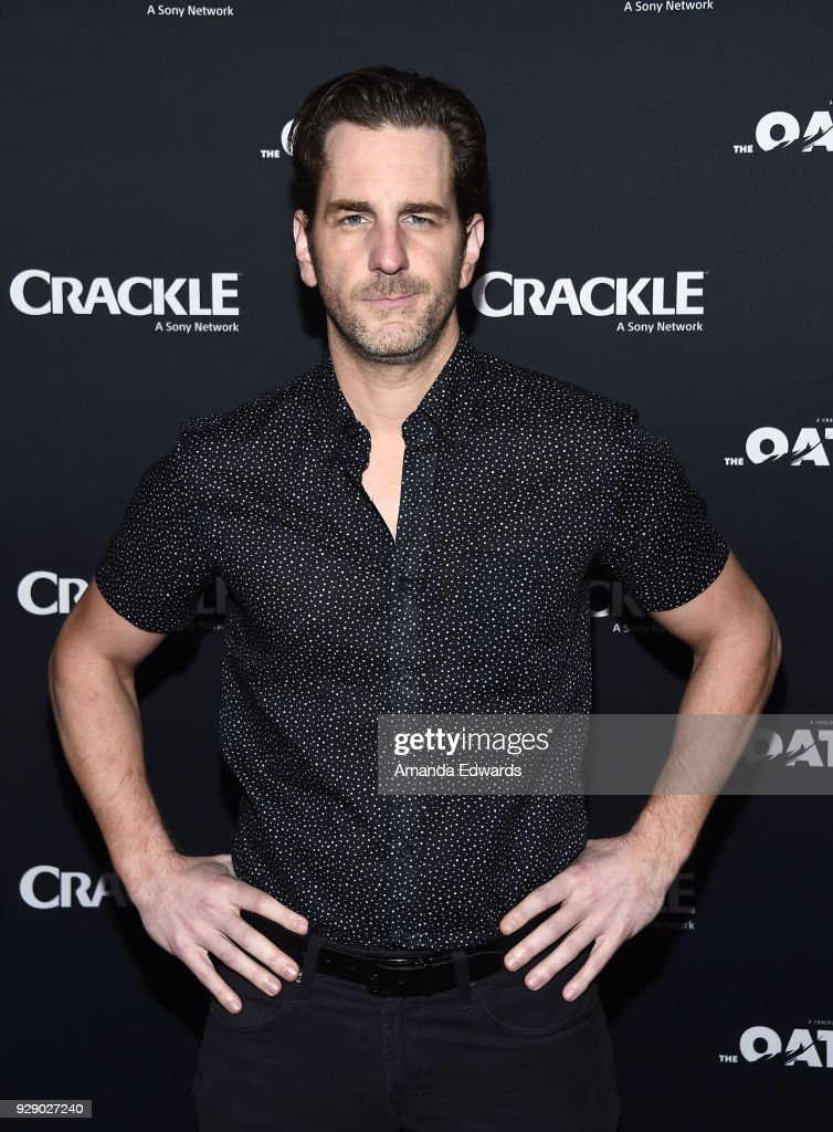 Actor Aaron Abrams arrives at Crackle's 'The Oath' premiere at Sony Pictures Studios on March 7, 2018 in Culver City, California.