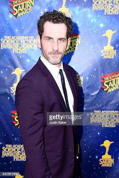 Actor Aaron Abrams arrives for the 42nd Annual Saturn Awards at The Castaway on June 22 2016 in Burbank California