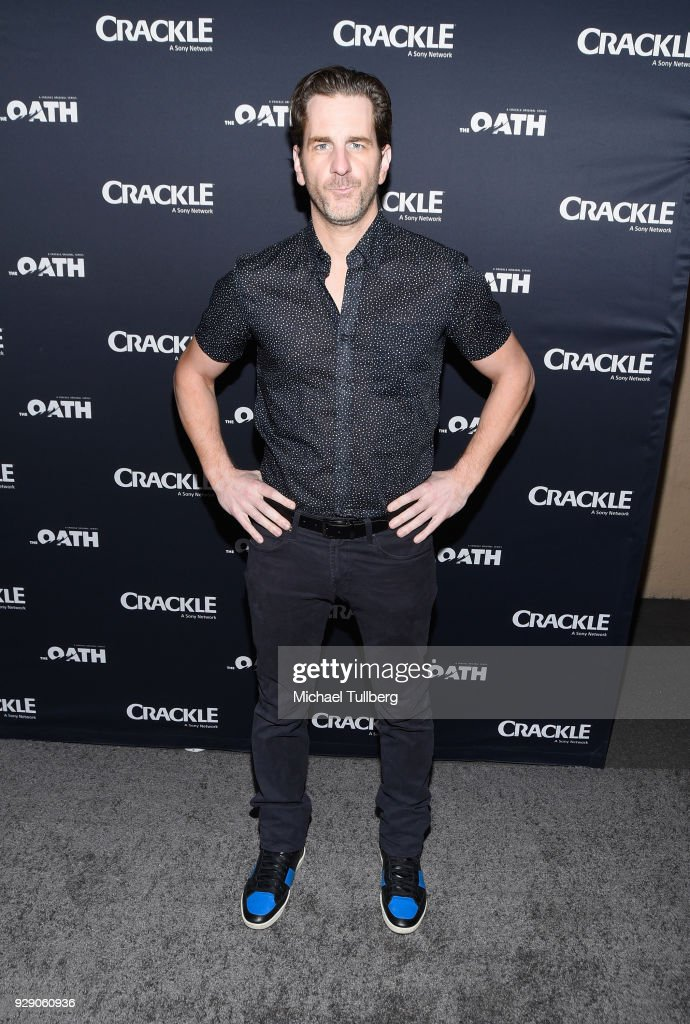 Actor Aaron Abrams attends the premiere of Crackle's 'The Oath' at Sony Pictures Studios on March 7, 2018 in Culver City, California.