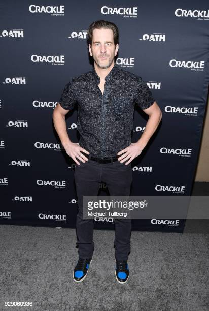 Actor Aaron Abrams attends the premiere of Crackle's 'The Oath' at Sony Pictures Studios on March 7 2018 in Culver City California