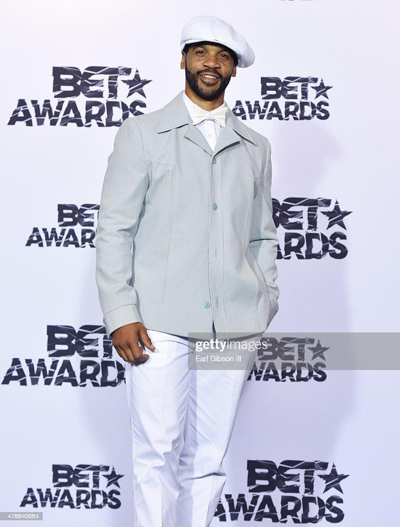 Actor Aaron D. Spears poses in the press room during the 2015 BET Awards at the Microsoft Theater on June 28, 2015 in Los Angeles, California.