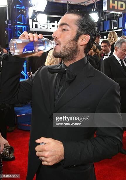 Actor Aaron Diaz at the smartwater Hydration Station during the 67th Annual Golden Globe Awards red carpet at The Beverly Hilton Hotel on January 17...