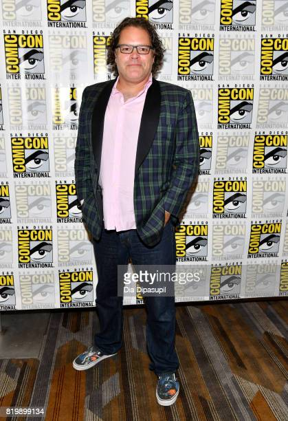 """Actor Aaron Douglas at the """"Battlestar Galactica"""" Reunion press line during Comic-Con International 2017 at Hilton Bayfront on July 20, 2017 in San..."""