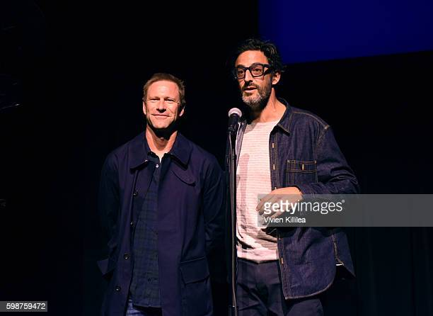 Actor Aaron Eckhart and director Ben Younger attend a screening of 'Bleed for This' during the Telluride Film Festival 2016 on September 2 2016 in...