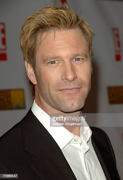Actor Aaron Eckhart arrives at the 12th Annual Critics' Choice Awards held at the Santa Monica Civic Auditorium on January 12, 2007 in Santa Monica,...