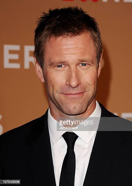 Actor Aaron Eckhart arrives at the 4th Annual CNN Heroes An All Star Tribute at The Shrine Auditorium on November 20 2010 in Los Angeles California