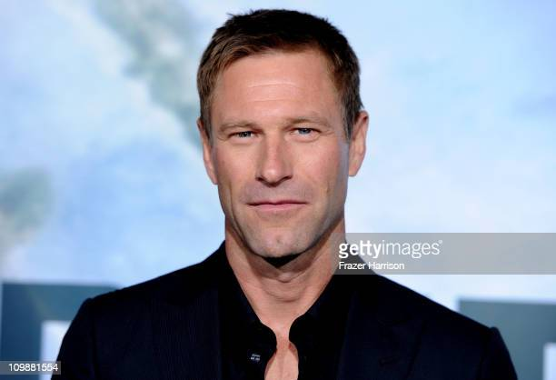 Actor Aaron Eckhart arrives at the premiere of Columbia Pictures' 'Battle Los Angeles' at the Regency Village Theater on March 8 2011 in Westwood...