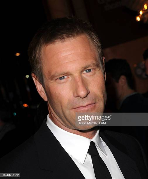 Actor Aaron Eckhart arrives at the Rabbit Hole Premiere held at The Elgin during the 35th Toronto International Film Festival on September 13 2010 in...