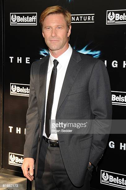 Actor Aaron Eckhart arrives at the world premiere of The Dark Knight at AMC Loews Lincoln Square IMAX on July 14 2008 in New York City