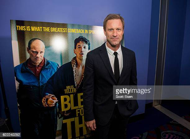 Actor Aaron Eckhart at the Providence Premiere of 'Bleed For This' on November 10 2016 in Providence Rhode Island