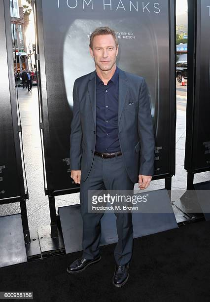 Actor Aaron Eckhart attends a screening of Warner Bros Pictures' 'Sully' at Directors Guild Of America on September 8 2016 in Los Angeles California
