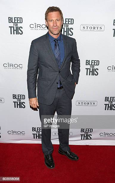 Actor Aaron Eckhart attends 'Bleed For This' TIFF Party At STORYS Toronto Hosted By CIROC at Storys Building on September 12 2016 in Toronto Canada