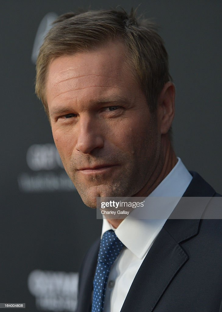 Actor Aaron Eckhart attends Brioni Sponsors Film District's World Premiere Of 'Olympus Has Fallen' ArcLight Cinemas on March 18, 2013 in Hollywood, California.