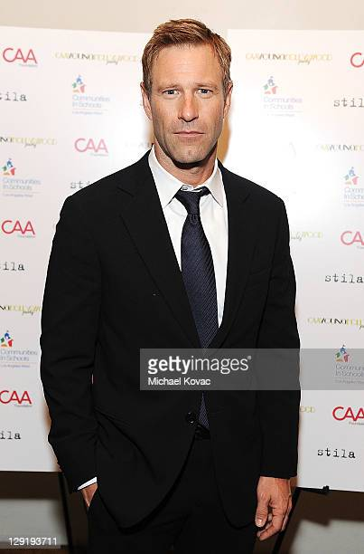 Actor Aaron Eckhart attends CAA's Young Hollywood Party benefiting Communities In Schools at The Colony on October 13 2011 in Los Angeles California
