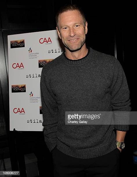 Actor Aaron Eckhart attends CAA's Young Hollywood Party Benefitting Communities In Schools Los Angeles West at MyHouse Nightclub on October 7 2010 in...