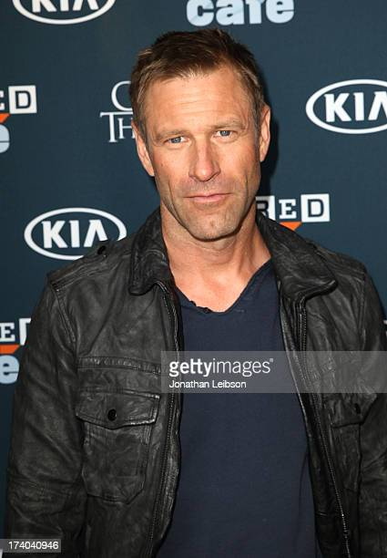 Actor Aaron Eckhart attends day 2 of the WIRED Cafe at ComicCon on July 19 2013 in San Diego California