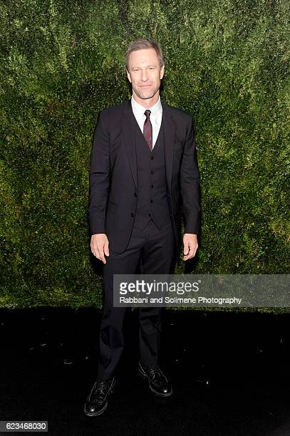 Actor Aaron Eckhart attends the 2016 Museum Of Modern Art Film Benefit presented by Chanel A Tribute To Tom Hanks at Museum of Modern Art on November...
