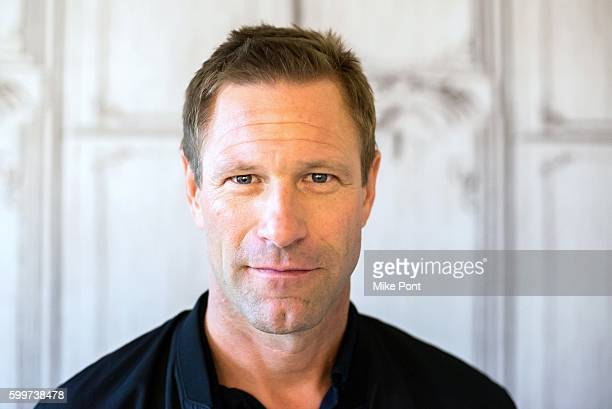 Actor Aaron Eckhart attends the AOL Build Speaker Series to discuss the movie 'Sully' at AOL HQ on September 6 2016 in New York City