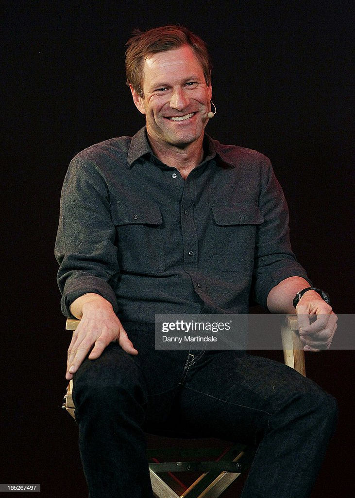 Actor Aaron Eckhart attends the Meet The Filmmakers event ahead of tomorrow's UK Premiere of 'Olympus Has Fallen' at Apple Store, Regent Street on April 2, 2013 in London, England.