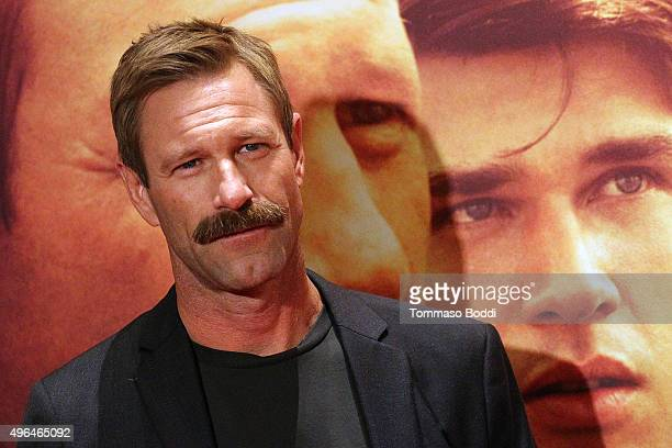 Actor Aaron Eckhart attends the premiere of Clarius Entertainment's 'My All American' held at The Grove on November 9 2015 in Los Angeles California