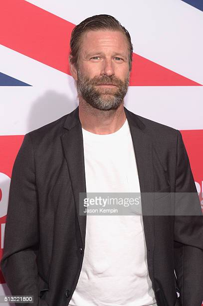 Actor Aaron Eckhart attends the premiere of Focus Features' London Has Fallen at ArcLight Cinemas Cinerama Dome on March 1 2016 in Hollywood...