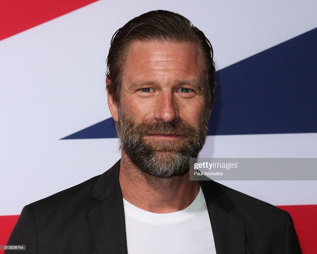 Actor Aaron Eckhart attends the premiere of 'London Has Fallen' at ArcLight Cinemas Cinerama Dome on March 1, 2016 in Hollywood, California.
