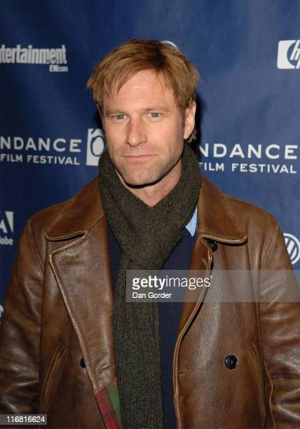 Actor Aaron Eckhart attends the premiere of 'Towelhead' at the Eccles Theatre during the 2008 Sundance Film festival on January 24 2008 in Park City...