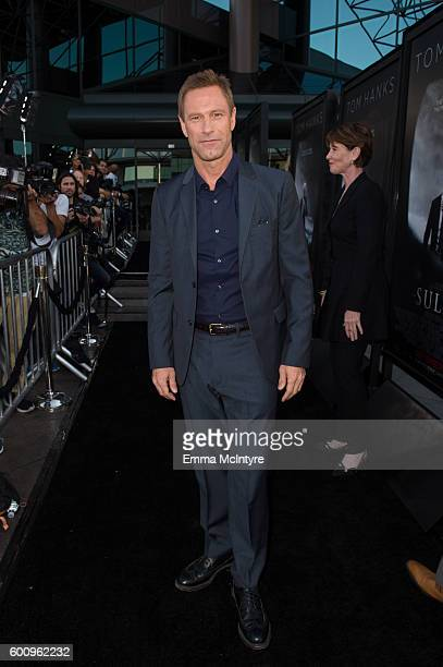 Actor Aaron Eckhart attends the screening of Warner Bros Pictures' 'Sully' at Directors Guild Of America on September 8 2016 in Los Angeles California