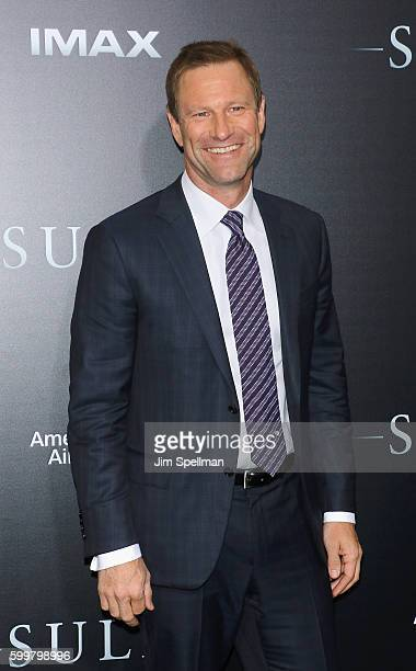 """Actor Aaron Eckhart attends the """"Sully"""" New York premiere at Alice Tully Hall, Lincoln Center on September 6, 2016 in New York City."""