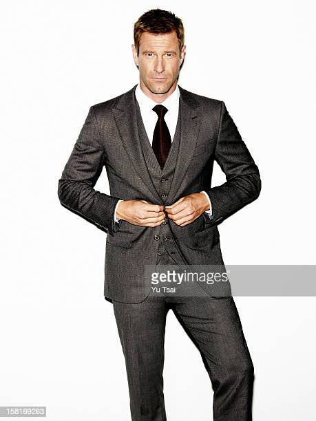 Actor Aaron Eckhart is photographed for In Style Russia on September 12 2012 in Los Angeles California PUBLISHED IMAGE