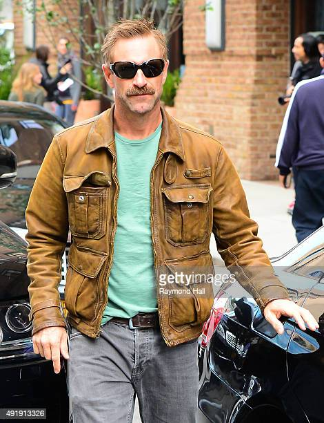 Actor Aaron Eckhart is seen walking in Soho on October 8 2015 in New York City