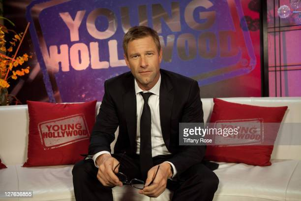 Actor Aaron Eckhart visits YoungHollywoodcom at the Young Hollywood Studio on March 7 2011 in Los Angeles California