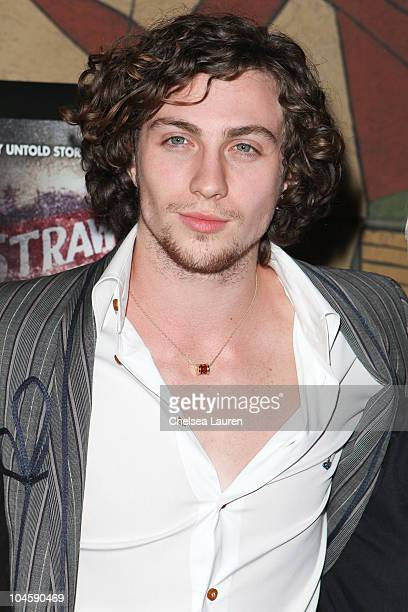 Actor Aaron Johnson arrives at the 'Nowhere Boy' special screening at the Egyptian Theater on September 30 2010 in Hollywood California