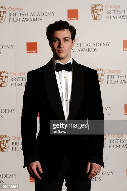 Actor Aaron Johnson poses in the awards room during Orange British Academy Film Awards 2010 at the Royal Opera House on February 21 2010 in London...