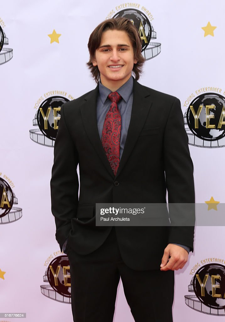 Actor Aaron Landon attends the 1st annual Young Entertainer Awards at The Globe Theatre at Universal Studios on March 20, 2016 in Universal City, California.
