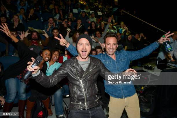 """Actor Aaron Paul and director Scott Waugh at a special fan screening of DreamWorks' Pictures """"Need For Speed"""" on February 4, 2014 at the Scotiabank..."""