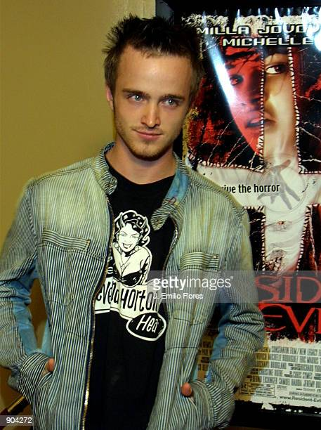 "Actor Aaron Paul arrives at a special creening of the movie ""Resident Evil"" March 12, 2002 in Hollywood, CA."