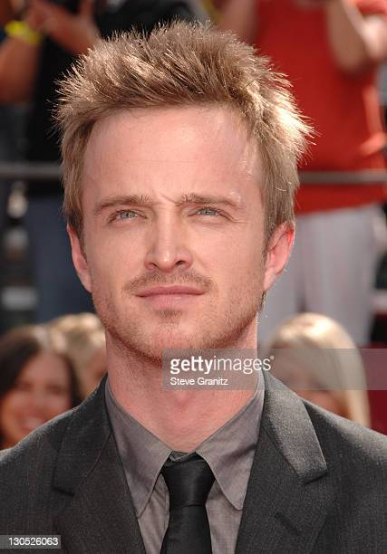 Actor Aaron Paul arrives at the 60th Primetime Emmy Awards at the Nokia Theater on September 21, 2008 in Los Angeles, California.