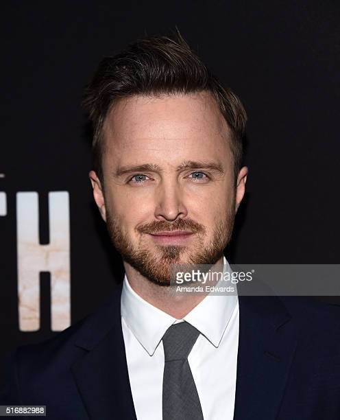 Actor Aaron Paul arrives at the premiere of Hulu's 'The Path' at the ArcLight Hollywood on March 21 2016 in Hollywood California