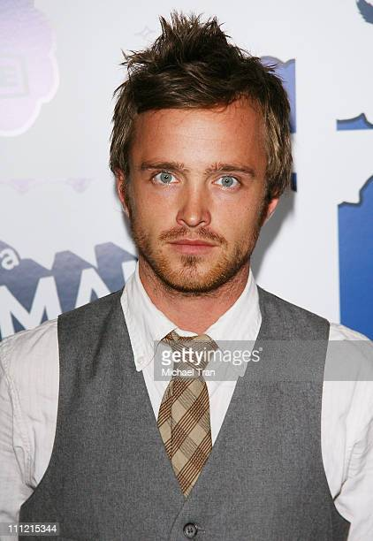 Actor Aaron Paul arrives at the premiere of 'It's a Mall World' at the Cinerama Dome on July 31 2007 in Hollywood California