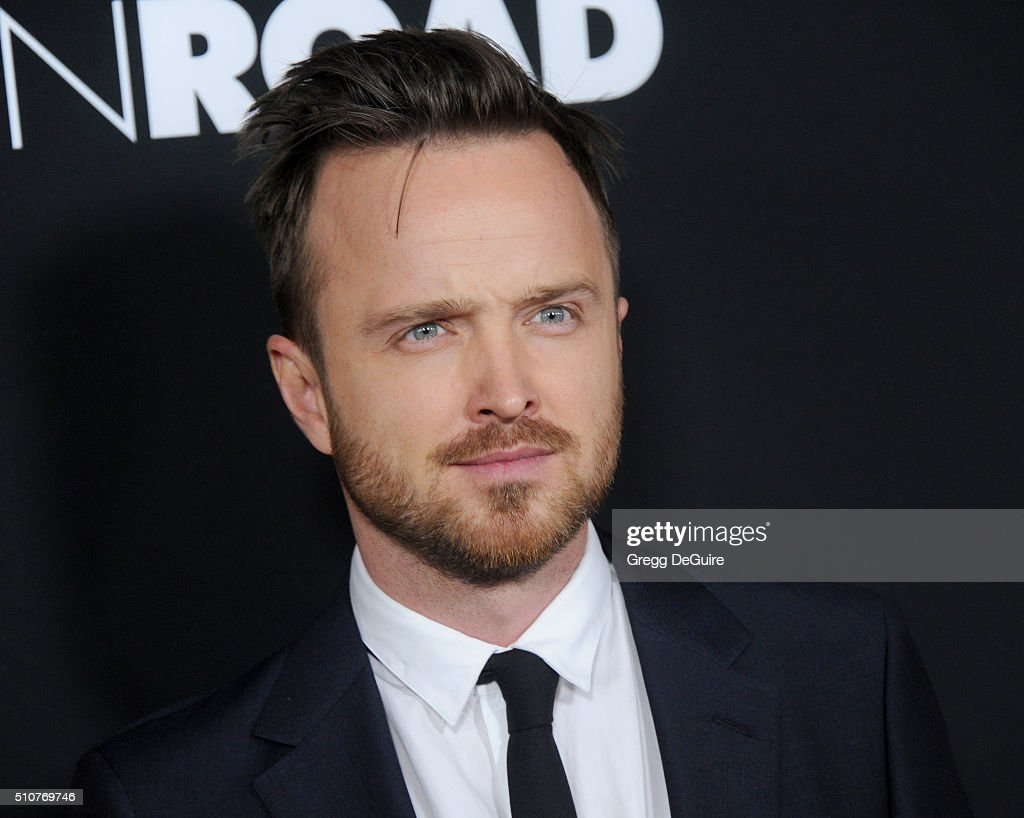 Actor Aaron Paul arrives at the premiere of Open Road's 'Triple 9' at Regal Cinemas L.A. Live on February 16, 2016 in Los Angeles, California.
