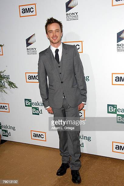 Actor Aaron Paul arrives at the Premiere Screening of AMC's new Sony Pictures' Television drama Breaking Bad held on January 15 2008 at The Cary...