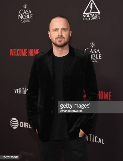 "Actor Aaron Paul arrives at the ""Welcome Home"" premiere at The London West Hollywood on November 4, 2018 in West Hollywood, California."