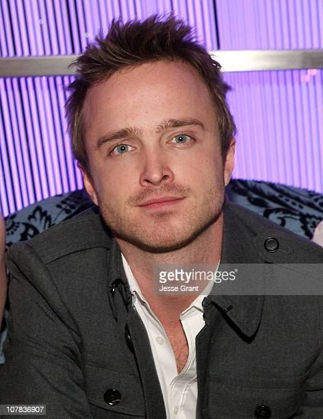 Actor Aaron Paul attends a cocktail party held at The Cosmopolitan Hotel on December 30, 2010 in Las Vegas, Nevada.