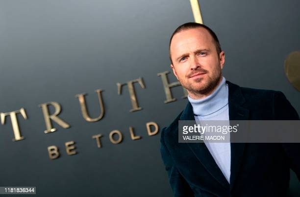 "Actor Aaron Paul attends Apple's premiere of ""Truth Be Told"" at the Academy Samuel Goldwyn theatre in Beverly Hills on November 11, 2019."