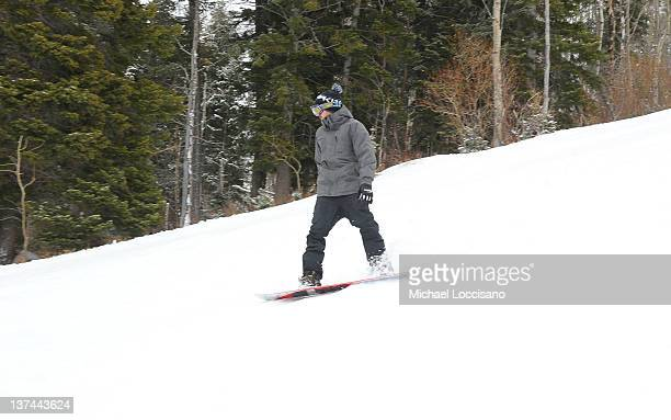 Actor Aaron Paul attends Day 1 of Oakley Learn to Ride Powered by ATT and the League of Super Fast Things on January 20 2012 in Park City Utah