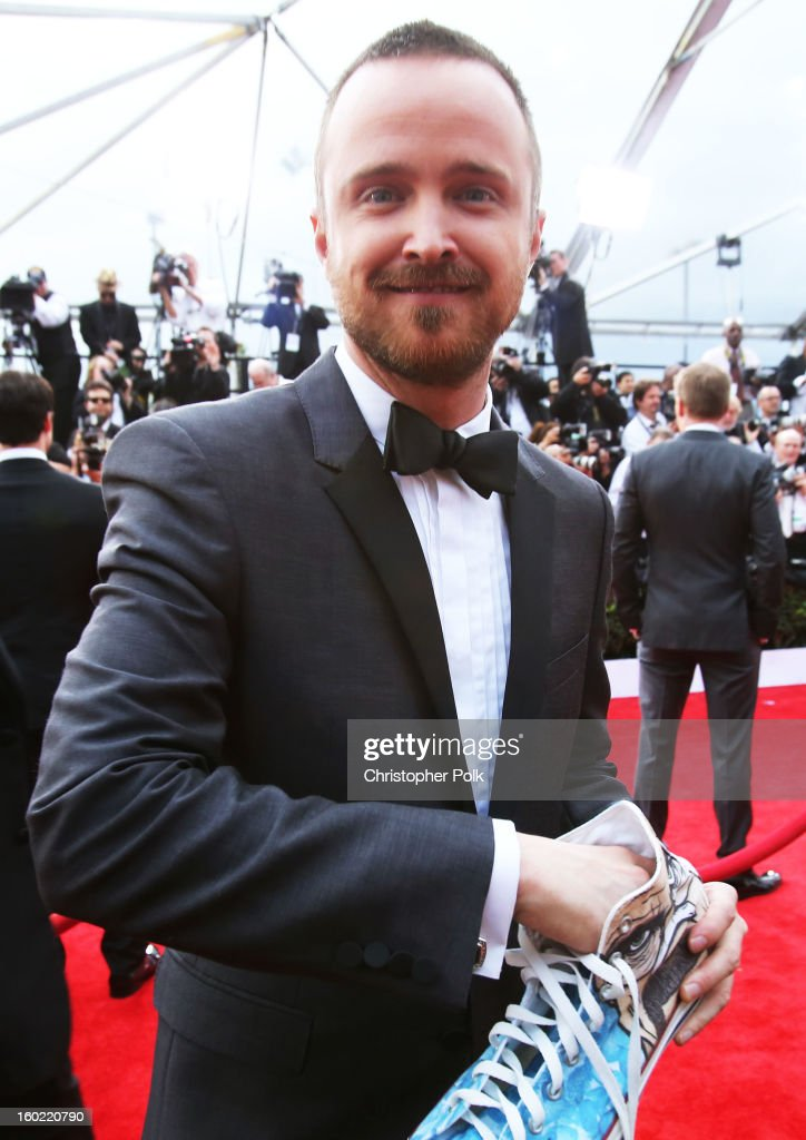 Actor Aaron Paul attends the 19th Annual Screen Actors Guild Awards at The Shrine Auditorium on January 27, 2013 in Los Angeles, California. (Photo by Christopher Polk/WireImage) 23116_012_0739.jpg