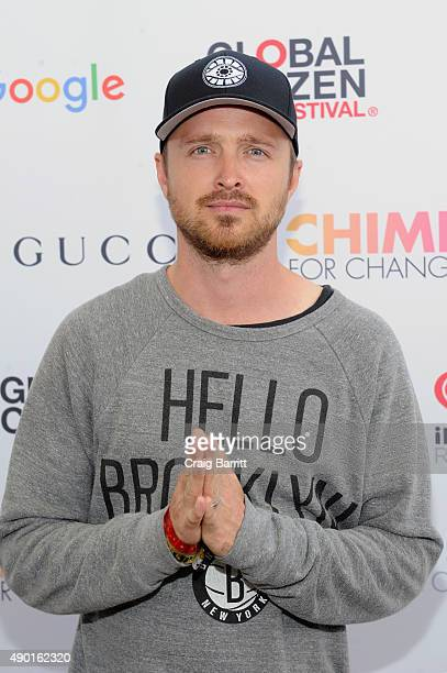 Actor Aaron Paul attends the 2015 Global Citizen Festival to end extreme poverty by 2030 in Central Park on September 26, 2015 in New York City.