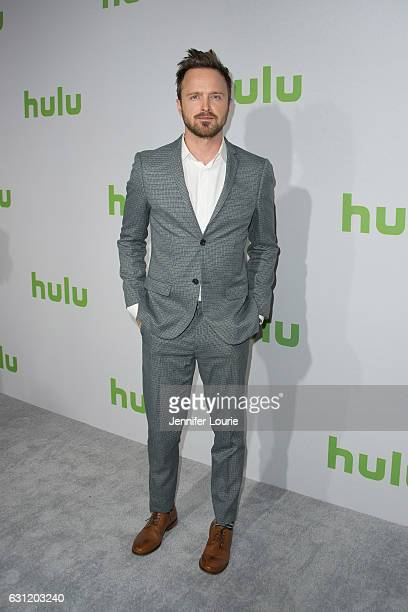 Actor Aaron Paul attends the 2017 Hulu Winter TCA Tour at the Langham Hotel on January 7 2017 in Pasadena California